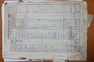 Caiet de evidenţă din anii '60 al crescătorului Gavrilă Oprea